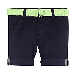 bluezoo - Boys' navy belted chino shorts