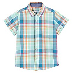 bluezoo - Boys' multi-coloured checked print shirt