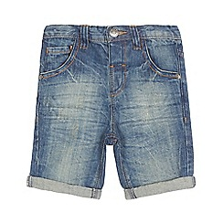 bluezoo - Boys' blue vintage-wash denim shorts