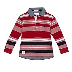 J by Jasper Conran - Boys' red mock striped polo shirt