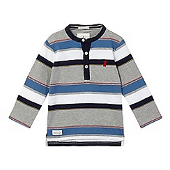 J by Jasper Conran - Boys' grey striped granddad top