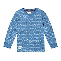 J by Jasper Conran - Boys' blue waves and boats print top