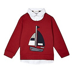 J by Jasper Conran - Boys' red boat sweater