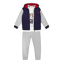 J by Jasper Conran - Boys' assorted dog top, zip through hoodie and joggers set
