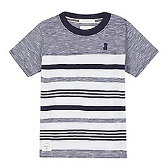 J by Jasper Conran - Boys' navy striped print t-shirt