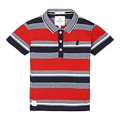 J by Jasper Conran - Boys' red block striped polo shirt