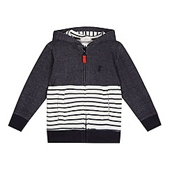 J by Jasper Conran - Boys' blue striped hoodie