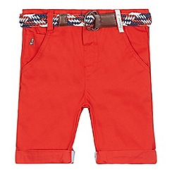 J by Jasper Conran - Boys' dark orange chino shorts