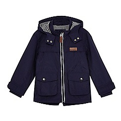 J by Jasper Conran - Boys' navy striped print lining raincoat
