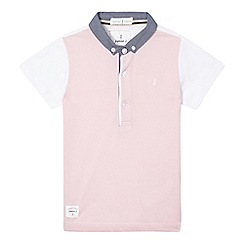 J by Jasper Conran - Boys' pink short sleeved polo top