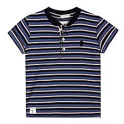 J by Jasper Conran - Boys' blue striped grandad t-shirt