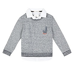 J by Jasper Conran - Boys' grey mock sweater