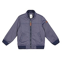 J by Jasper Conran - Boys' navy striped print chambray coat