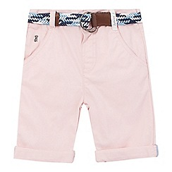 J by Jasper Conran - Boys' pink chino shorts