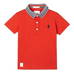 J by Jasper Conran - Boys' red textured collar polo shirt
