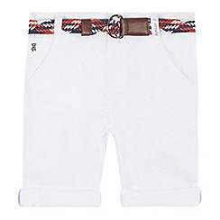 J by Jasper Conran - Boys' white belted chino shorts