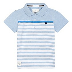J by Jasper Conran - Boys' blue striped polo shirt