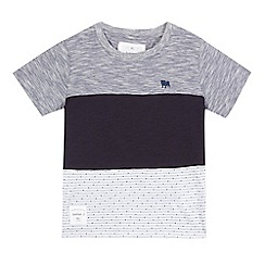 J by Jasper Conran - Boys  navy colour block t-shirt