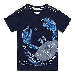 J by Jasper Conran - Boys' navy crab placement t-shirt