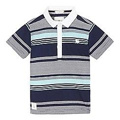 J by Jasper Conran - Boys' navy striped polo shirt