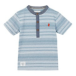 J by Jasper Conran - Boys' blue striped granddad shirt
