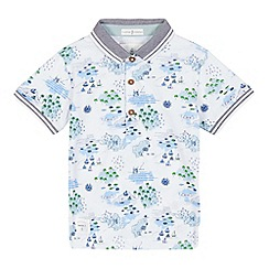J by Jasper Conran - Boys' white map print polo shirt
