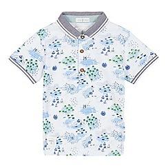 J by Jasper Conran - Boys' white map print polo shirt