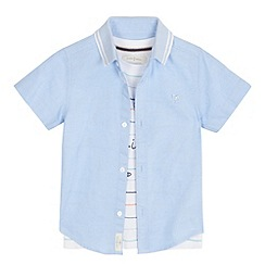 J by Jasper Conran - Boys' pale blue shirt and striped t-shirt