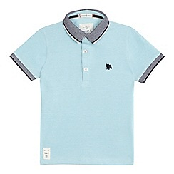 J by Jasper Conran - Boys' aqua pique polo shirt