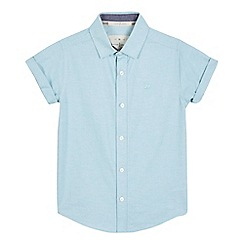 J by Jasper Conran - Boys' pale blue textured shirt