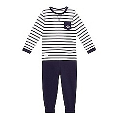 J by Jasper Conran - Boys' navy long sleeved t-shirt and jogging bottoms set