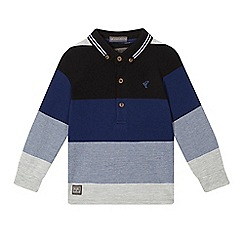 RJR.John Rocha - Boys' blue textured block stripe polo shirt