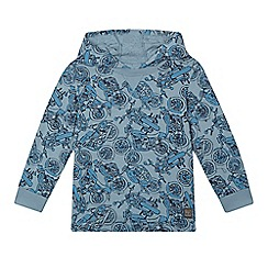 RJR.John Rocha - Boys' blue bike print hooded top
