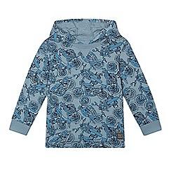 RJR.John Rocha - Boys' blue bike print hooded top