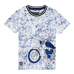 RJR.John Rocha - Boys' white crackle motorbike t-shirt