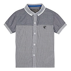 RJR.John Rocha - Boys' grey checked short sleeved shirt