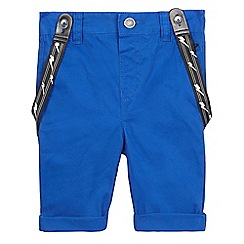 RJR.John Rocha - Boys' bright blue chino shorts with braces