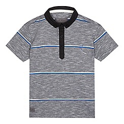 RJR.John Rocha - Boys' grey striped print polo shirt