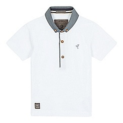 RJR.John Rocha - Boys' white pique polo shirt