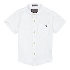 RJR.John Rocha - Boys' white buttoned short sleeve shirt