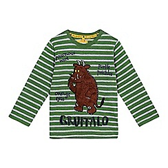 The Gruffalo - Boys' green striped long sleeved Gruffalo t-shirt