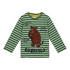 The Gruffalo - Boys' green striped long sleeved Gruffalo t-shirt