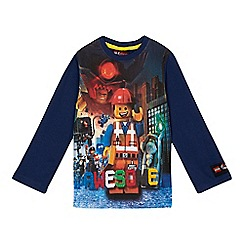 LEGO - Boys' navy long sleeved Lego t-shirt
