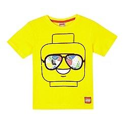 LEGO - Boys' yellow 'Lego' print t-shirt