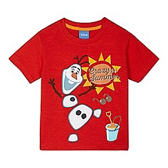 Disney Frozen - Boys' red 'Olaf' t-shirt