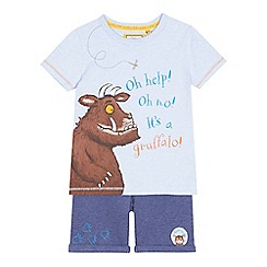 The Gruffalo - Boys' light blue 'Gruffalo' print t-shirt and shorts set