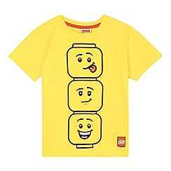LEGO - Boys' yellow 'Lego' heads print t-shirt