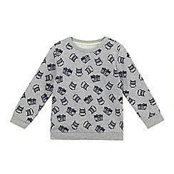 bluezoo - Boys' grey fire truck print sweat top