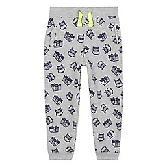 bluezoo - Boys' grey fire truck print sweat jogging bottoms