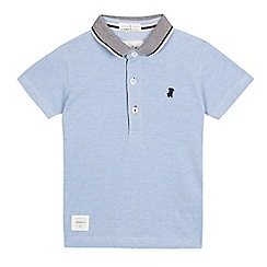 J by Jasper Conran - Boys' pale blue pique polo shirt